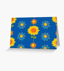Sunflowers Pattern Greeting Card