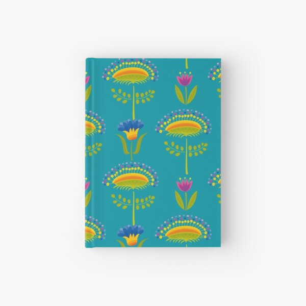 Floral Pattern Hardcover Journal
