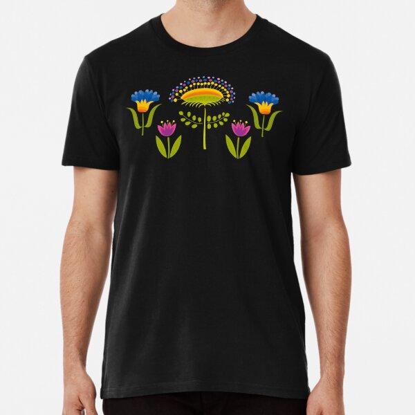 Floral Pattern Premium T-Shirt