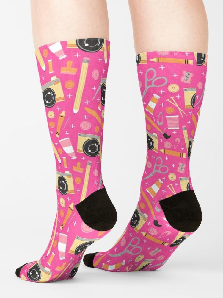Alternate view of Just Keep Creating Socks