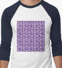 Purple Vintage Wallpaper Style Flower Patterns T-Shirt
