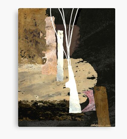 """White Vase""  Canvas Print"