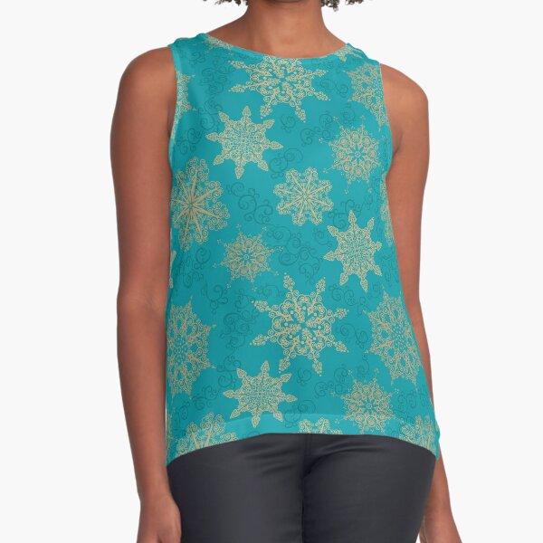 Golden Snowflakes Sleeveless Top