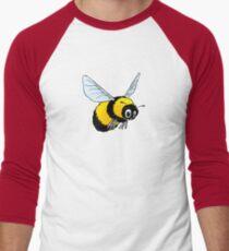 Happily Bumbling Bumble Bee Men's Baseball ¾ T-Shirt