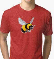 Happily Bumbling Bumble Bee Tri-blend T-Shirt