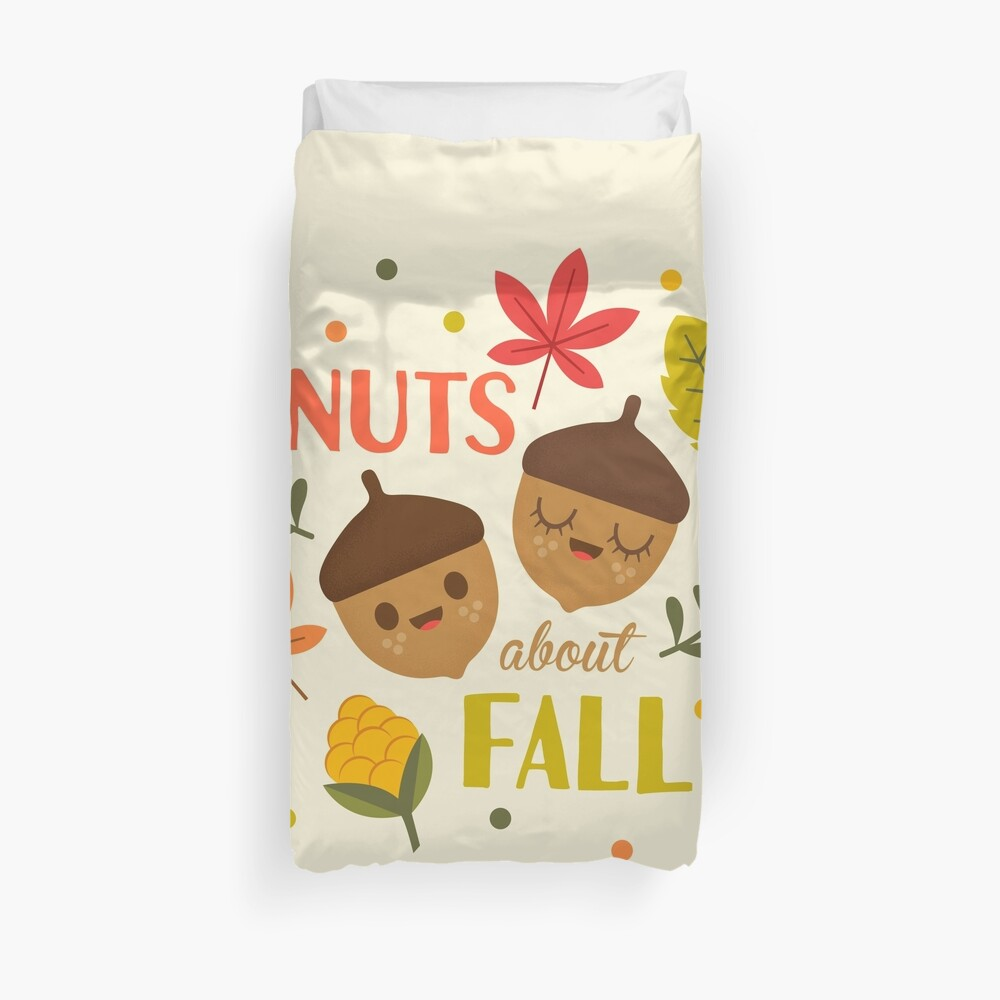 Nuts about Fall Duvet Cover