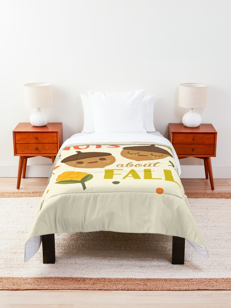 Alternate view of Nuts about Fall Comforter