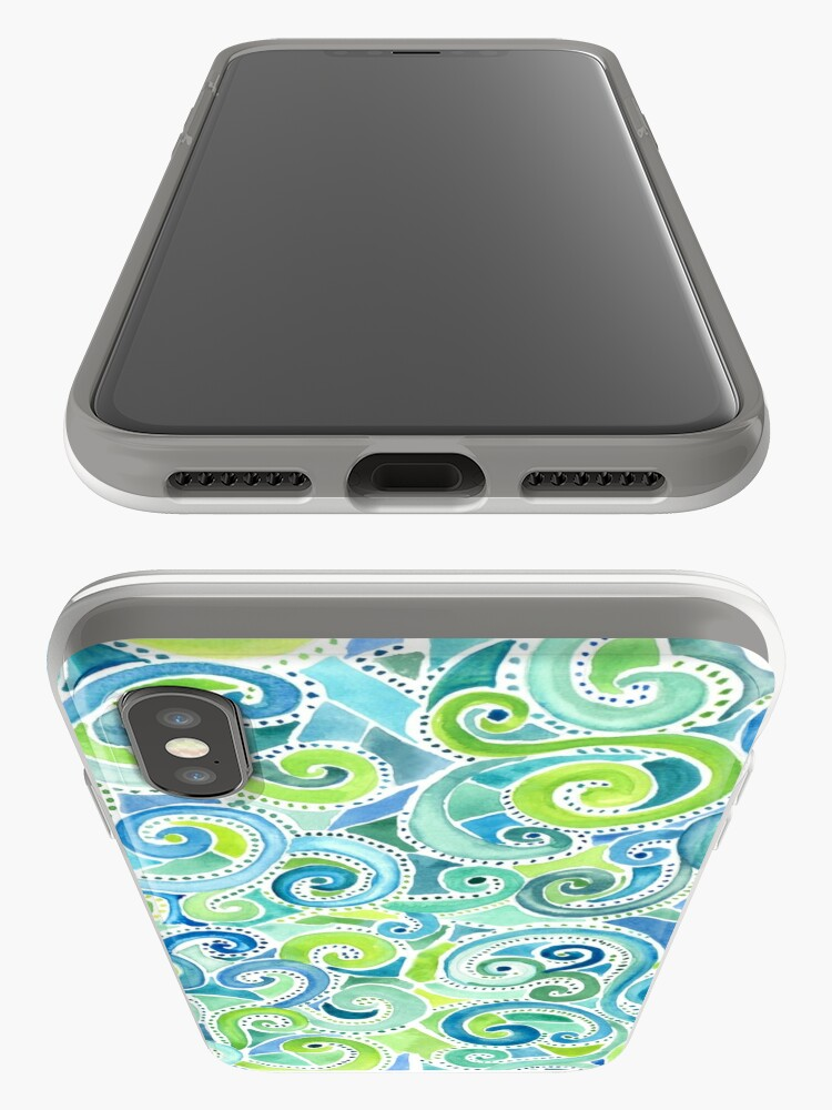 Alternate view of Swirly Spiral Watercolor iPhone Case & Cover