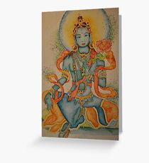 Green Tara: Goddess of Compassion Greeting Card