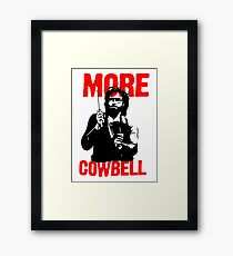 More Cowbell T-Shirt Framed Print