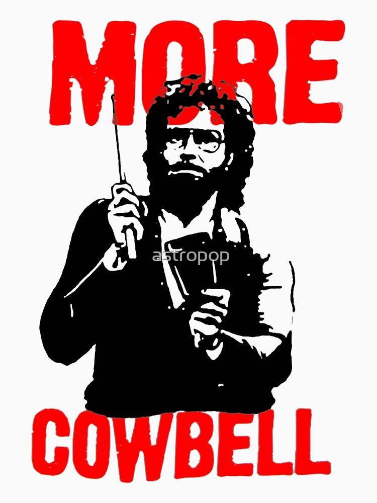 Más Cowbell Camiseta de astropop