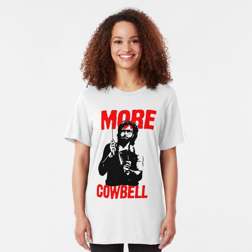 Más Cowbell Camiseta Camiseta ajustada