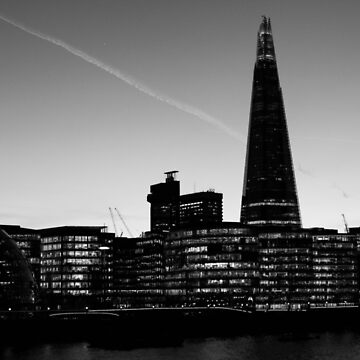 The Shard in B&W by timkouroff