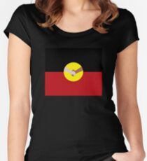 Reconciliation - Aboriginal Flag Women's Fitted Scoop T-Shirt