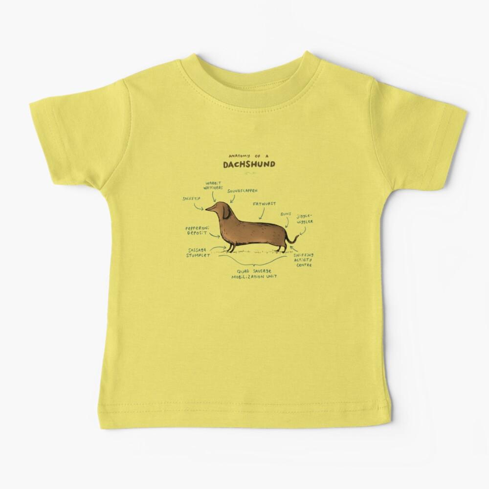 Anatomy of a Dachshund Baby T-Shirt