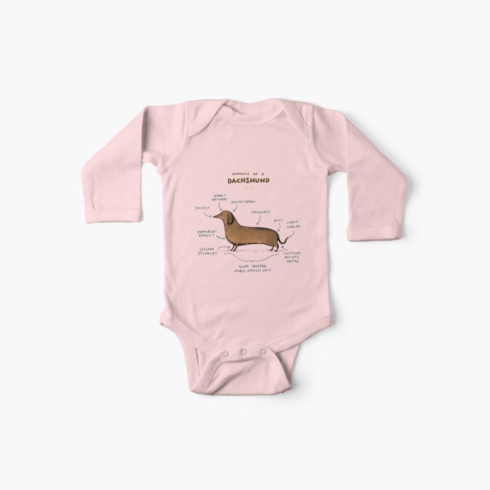 Anatomie eines Dackels Baby Bodys