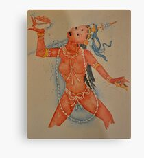 Vajrayogini, the Tibetan Buddhist Dakini Goddess Metal Print