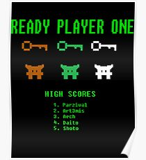Ready Player One 8-Bit Game High Five Poster