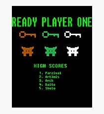 Ready Player One 8-Bit Game High Five Photographic Print
