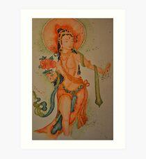 Standing White Tara Art Print