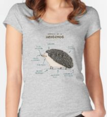 Anatomy of a Hedgehog Women's Fitted Scoop T-Shirt