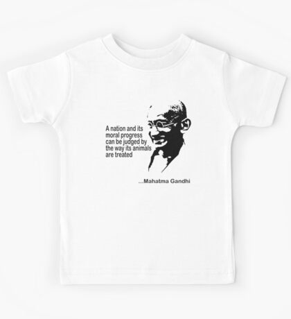 Gandhi Animal Rights T-Shirt Kids Clothes