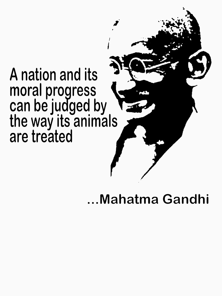 Gandhi Animal Rights by T-ShirtsGifts