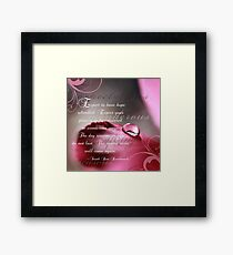 Expectations~ Original Macro Waterdrop Wall Art Framed Print