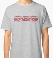 Gray Red Polka Dots Classic T-Shirt