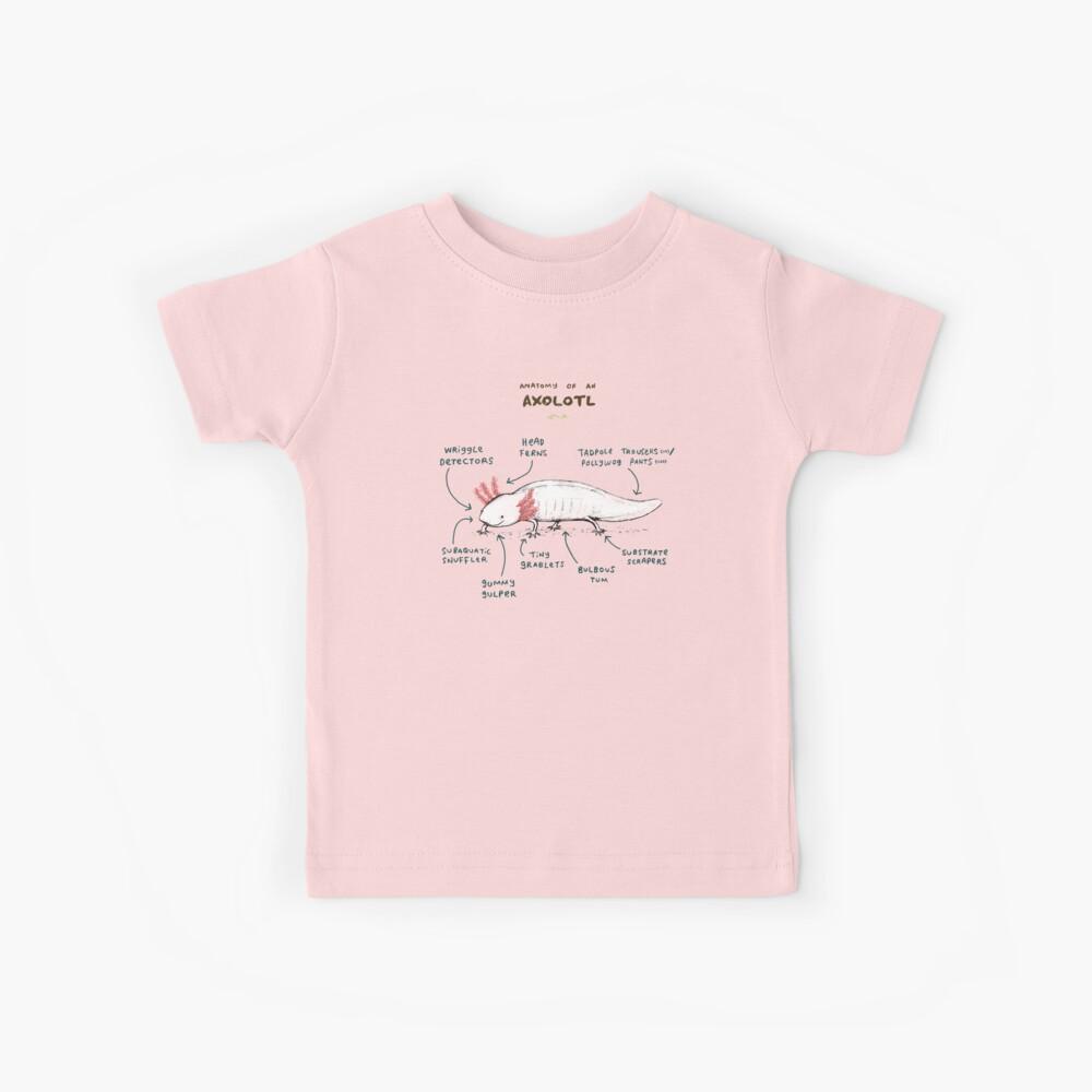 Anatomía de un axolotl Camiseta para niños
