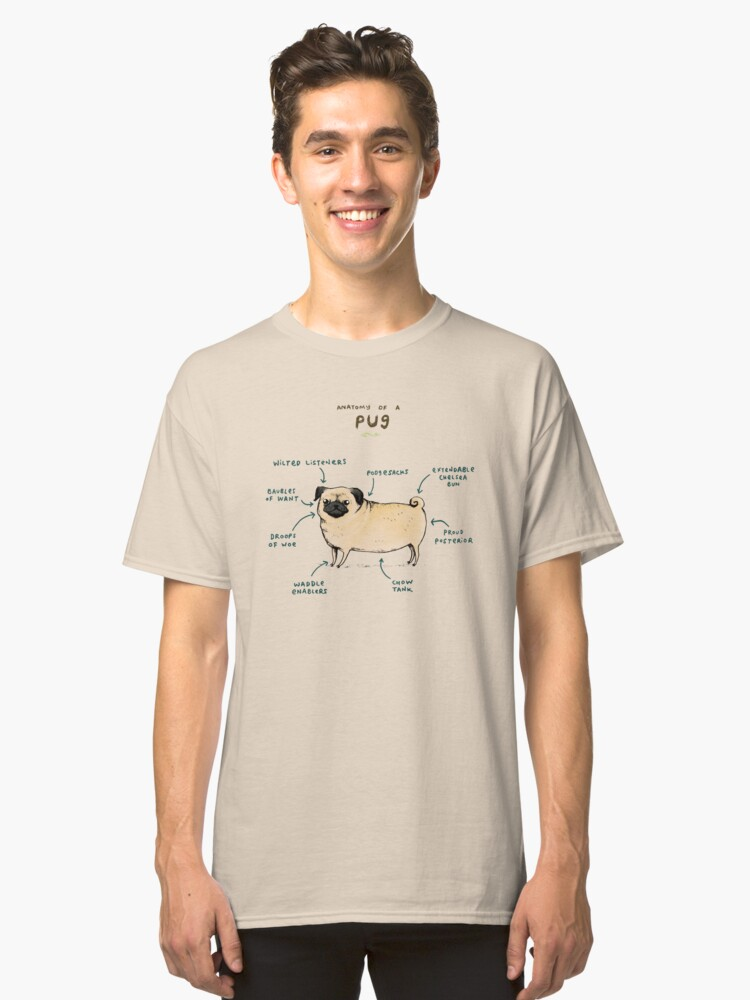Anatomy Of A Pug Unisex T Shirt By Sophiecorrigan Redbubble