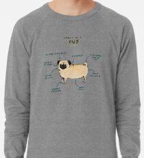 Anatomy of a Pug Lightweight Sweatshirt
