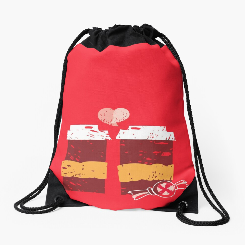 Coffee for Two Drawstring Bag