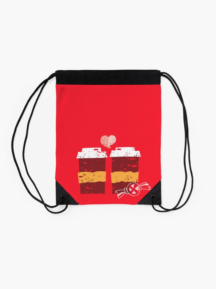 Alternate view of Coffee for Two Drawstring Bag