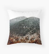 Fall Snow on Mount Mansfield Throw Pillow
