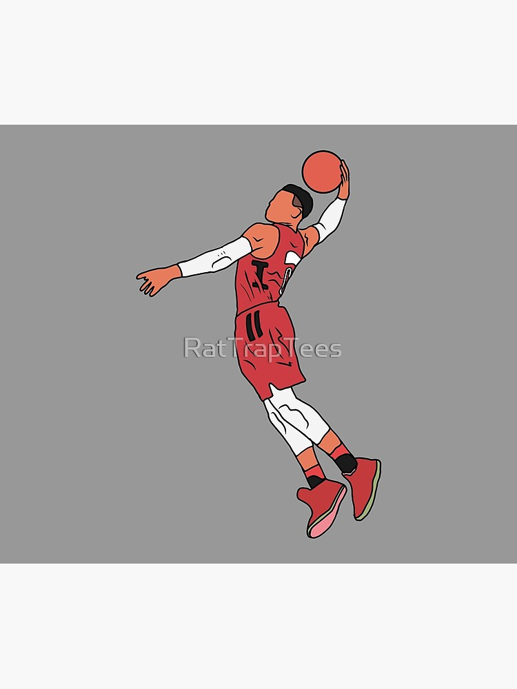 Russell Westbrook Rockets Dunk by RatTrapTees
