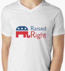 Camiseta para hombre de cuello en v Republicano - Levantado a la derecha