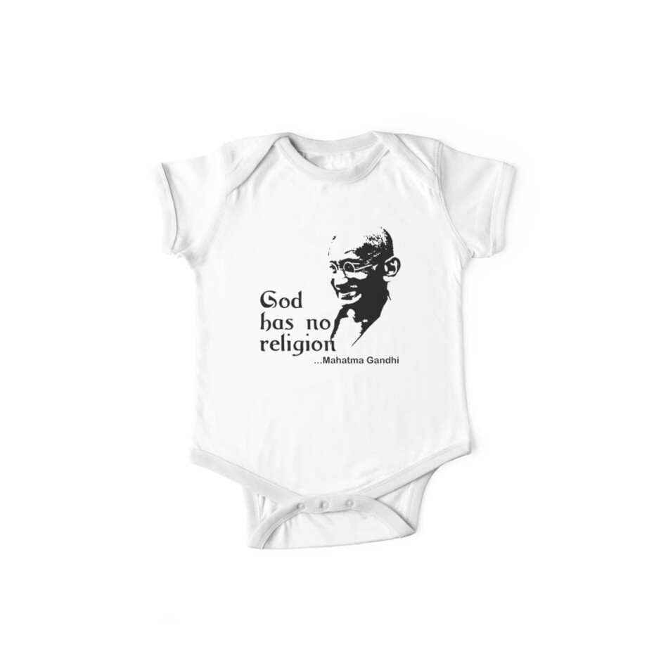 "Gandhi ""God Has No Religion"" T-Shirt by T-ShirtsGifts"