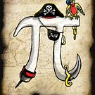 Pirate Pi Day Pi rate Swashbuckling Pi Symbol by MudgeStudios