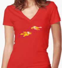 Autumn Love Fitted V-Neck T-Shirt