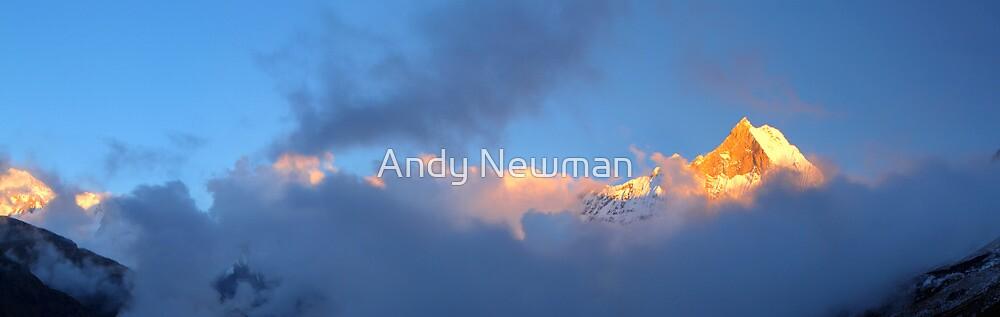 Machhupuchhre, Annapurna Sanctuary, Nepal. by Andy Newman
