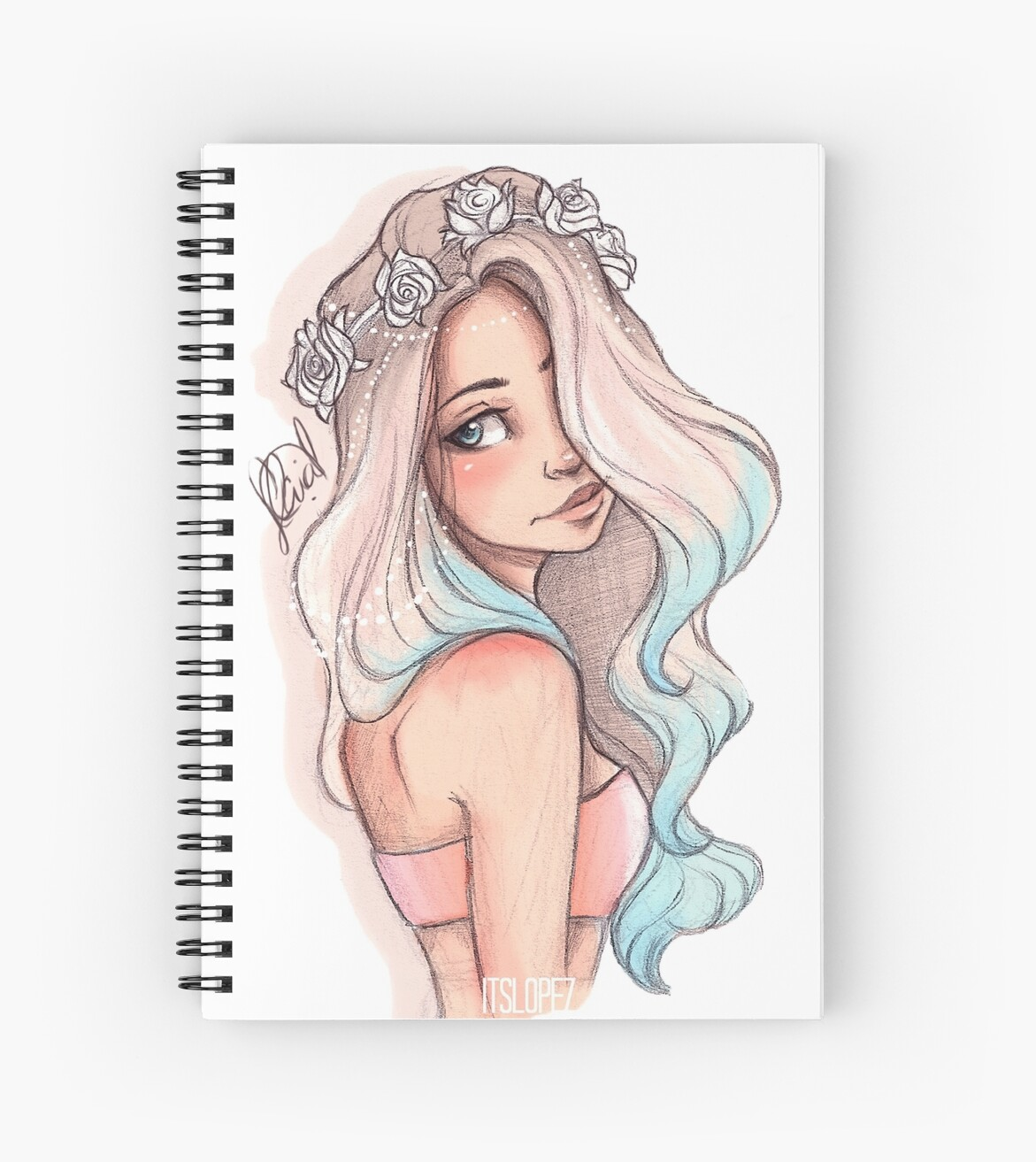 u0026quot mermaid hair u0026quot  spiral notebooks by itslopez