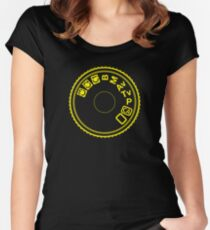Camera Mode Dial Women's Fitted Scoop T-Shirt