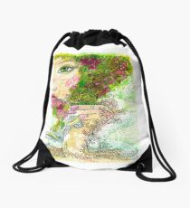 Morning Coffee Drawstring Bag