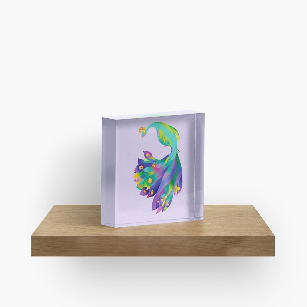 Peacock  Acrylic Block