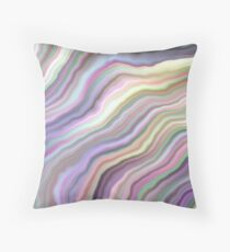 Ghost White Tunnel Throw Pillow