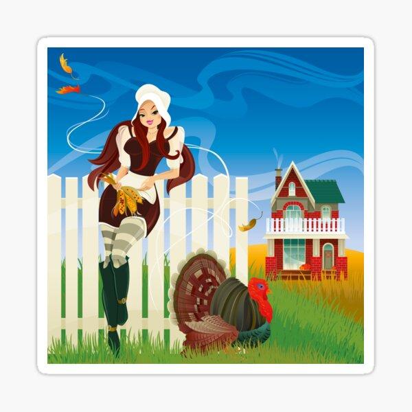 Happy Thanksgiving Day! Glossy Sticker