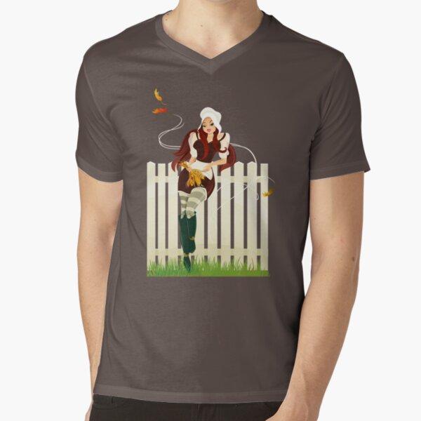 Happy Thanksgiving Day! V-Neck T-Shirt