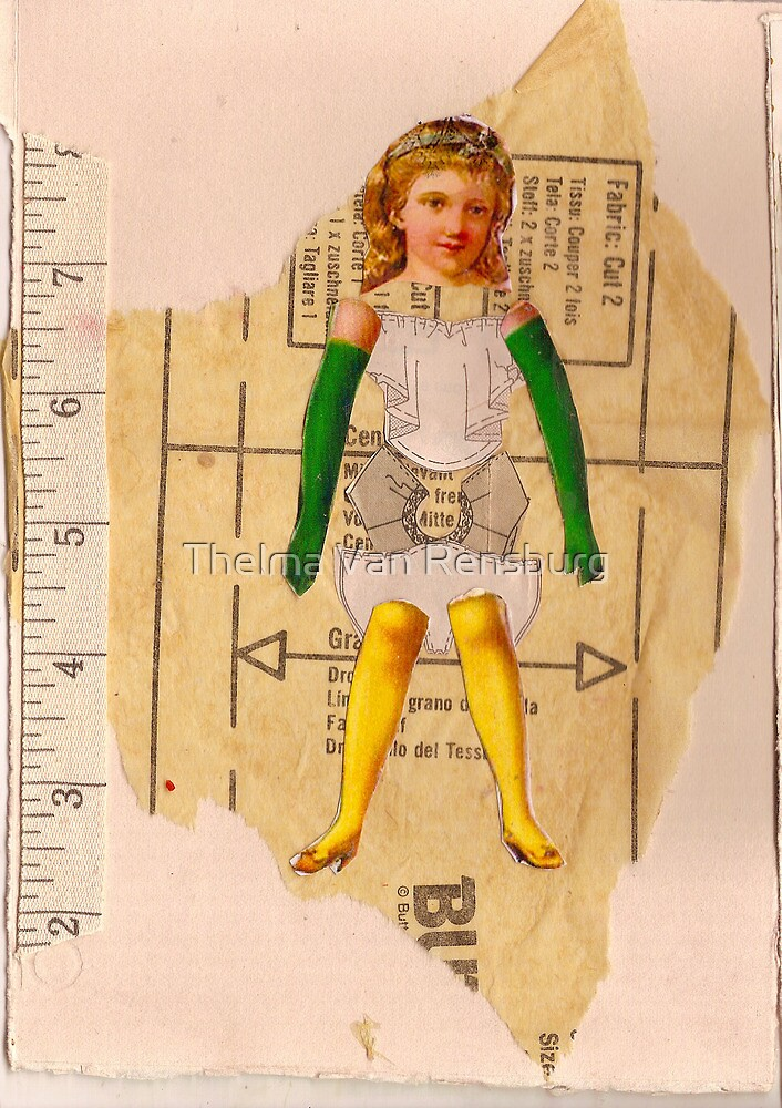 Anatomy of a doll 7 by Thelma Van Rensburg