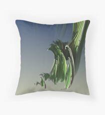 Grassy spiral Throw Pillow